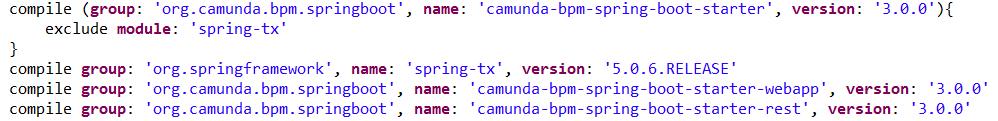 Camunda 7 9 Spring Boot using Gradle
